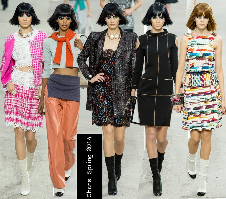 chanel spring 2014 colorful outfits
