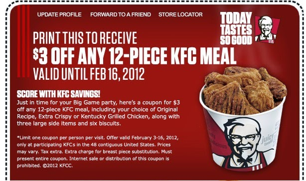 Kentucky fried chicken wings coupons