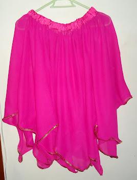 falda en picos rosa danza arabe