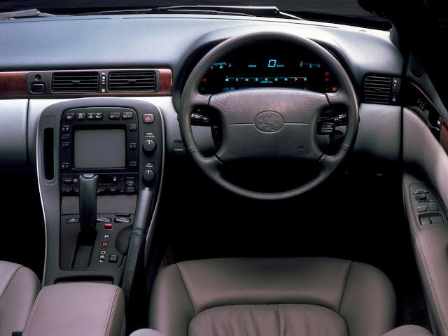 Toyota Soarer UZZ32, JDM, wnętrza japońskich samochodów, luksusowe auta, grand tourer, interior, w środku