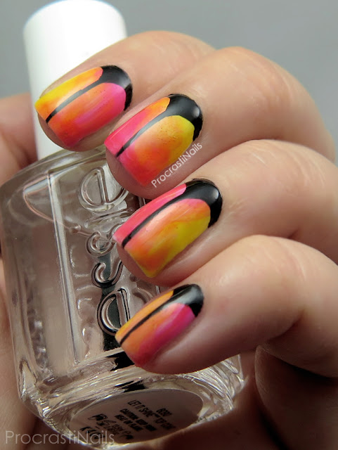 Gradient nail art with the Essie Silk Watercolour Collection