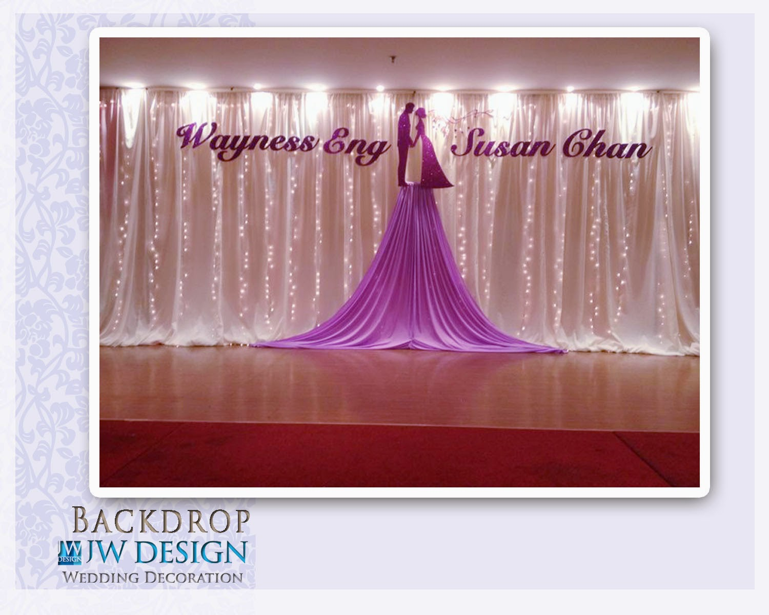 Jw design wedding decoration wayness susans wedding at klang wedding decoration in klang executive club selagor malaysia junglespirit Gallery