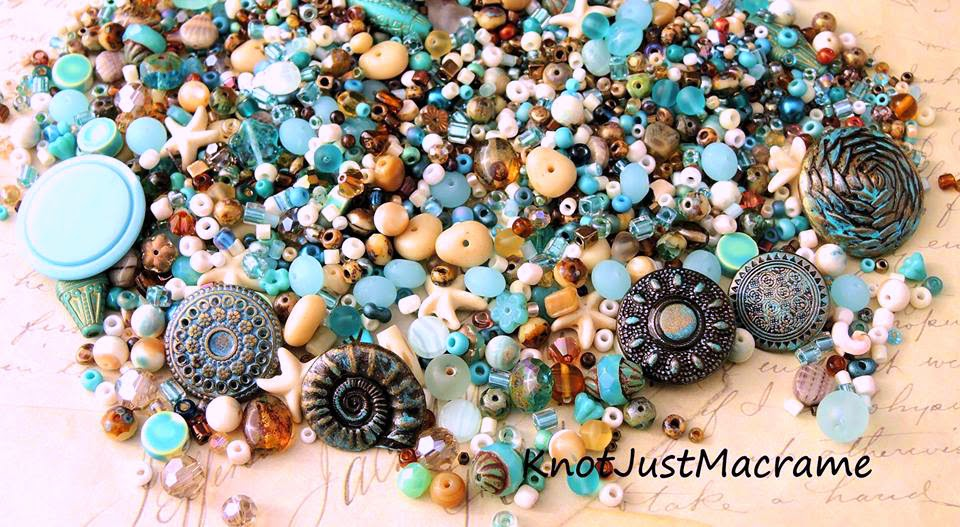 Custom bead mix and matching buttons.
