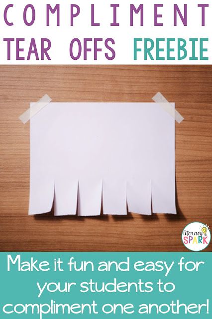 Check out these free tear off flyers that encourage your students to compliment one another in a fun way!  The printable freebies are perfect for encouraging kindness.