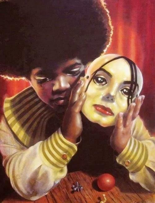 máscara rei do pop