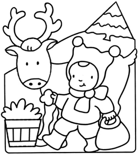 Riscos para pintura de renas de natal