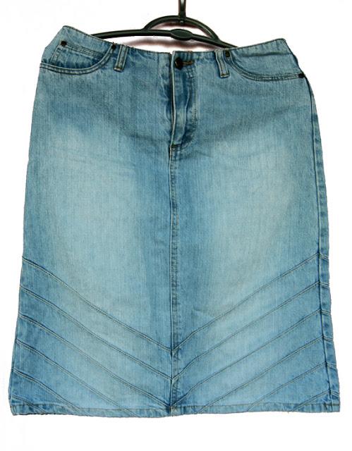 pencil skirt mesure 36-38 blue jeans