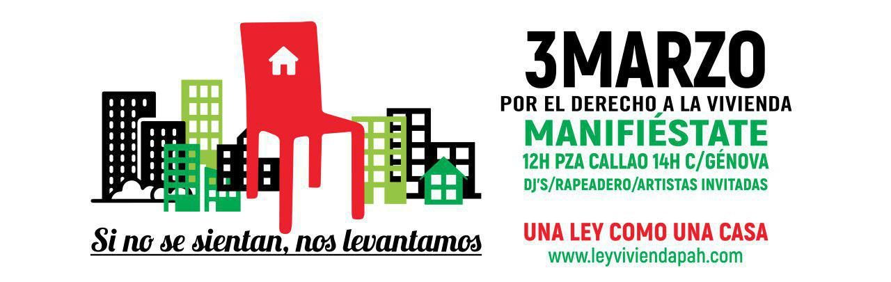 3 de marzo:  Derecho a una vivienda digna