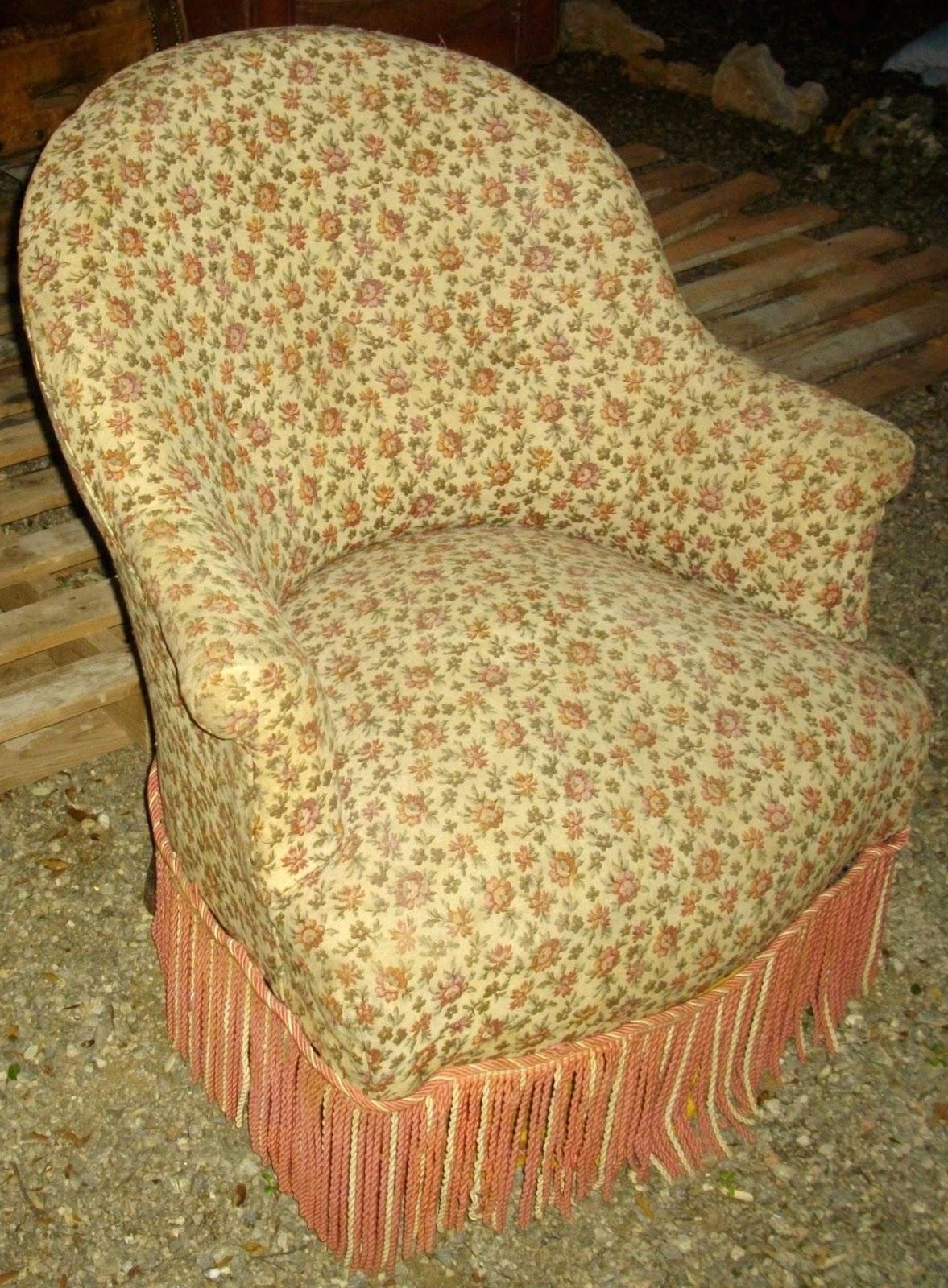 Antique French Ancien Petit Fauteuil Crapaud Bergère Romantique D - Ancien fauteuil crapaud