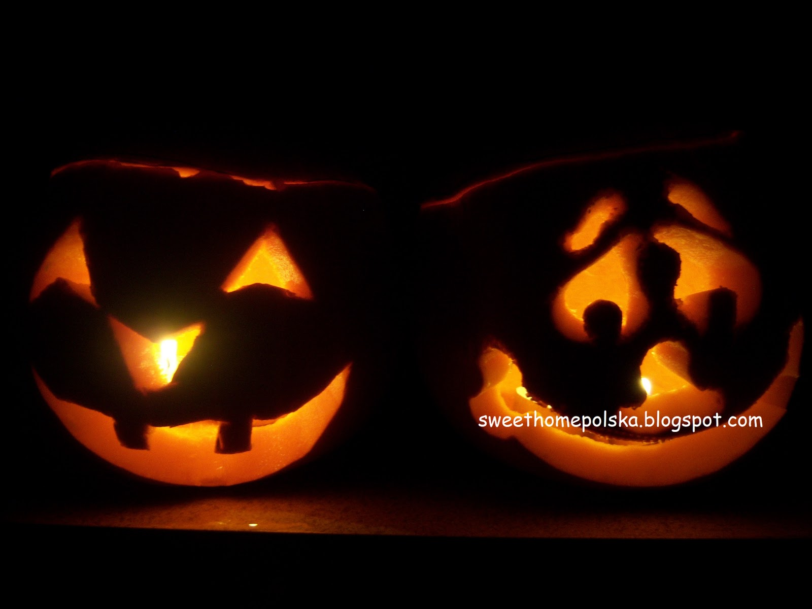 own source my first carved pumpkin the one on the left
