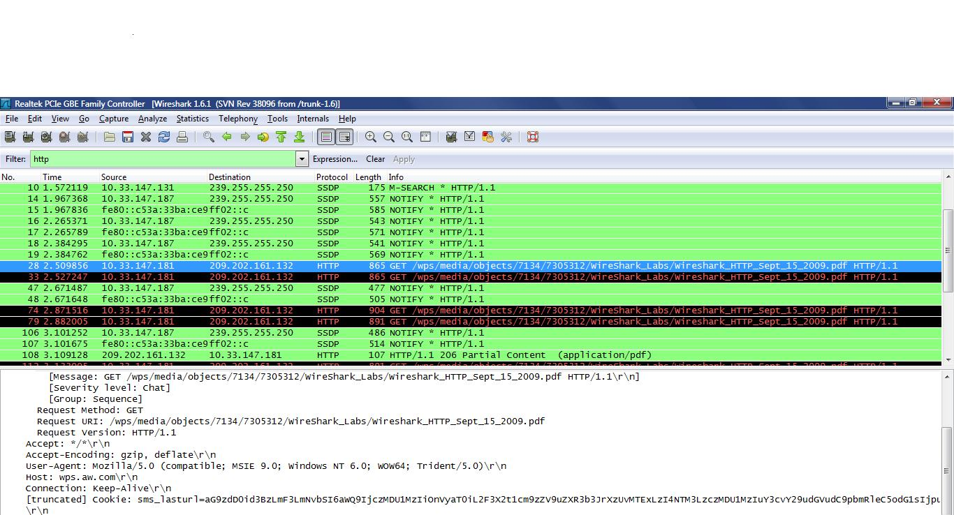 wireshark lab1 In this first wireshark lab, you'll get acquainted with wireshark, and make some   we will be using the wireshark packet sniffer [ ] for.
