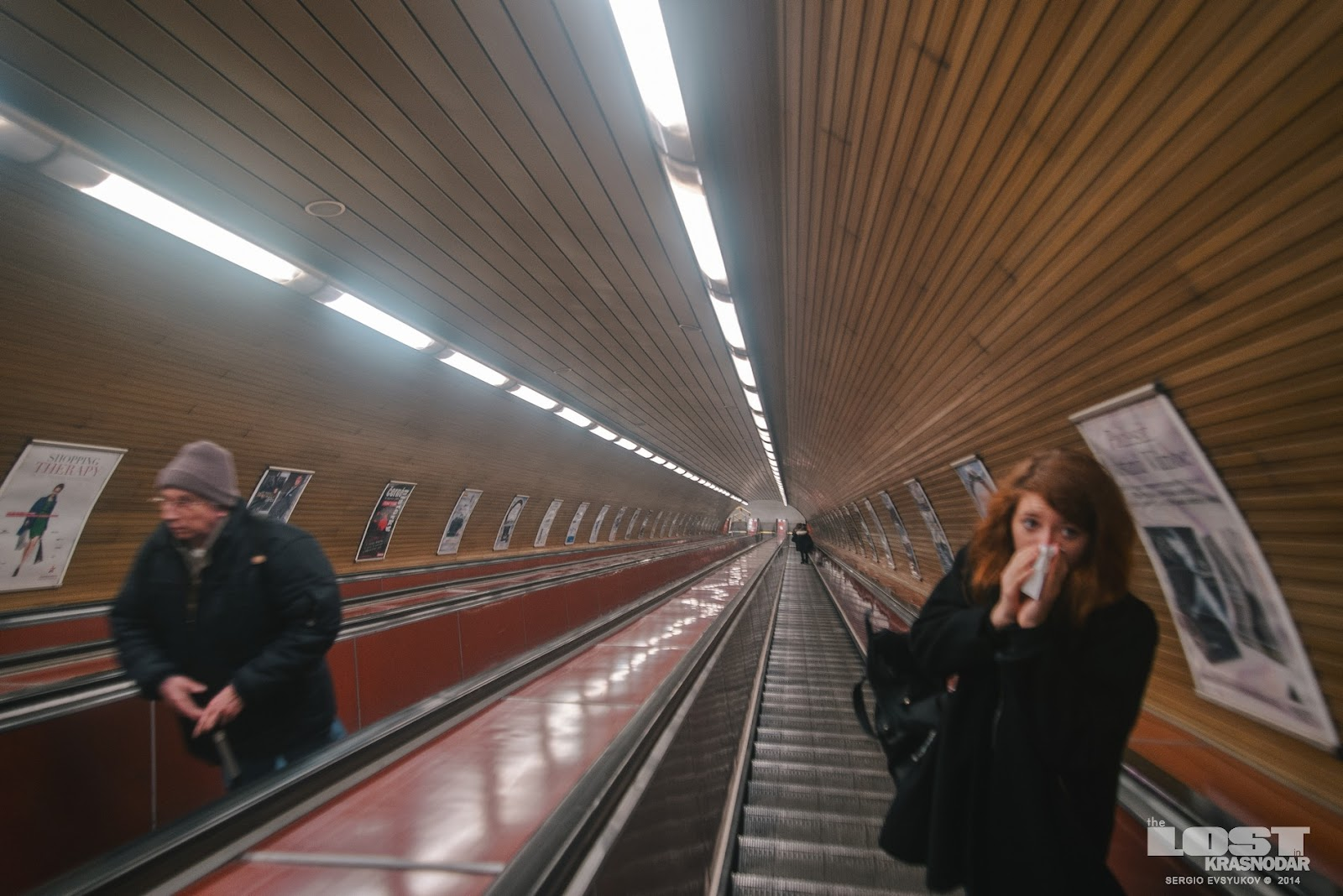 Эскалатор в пражском метро