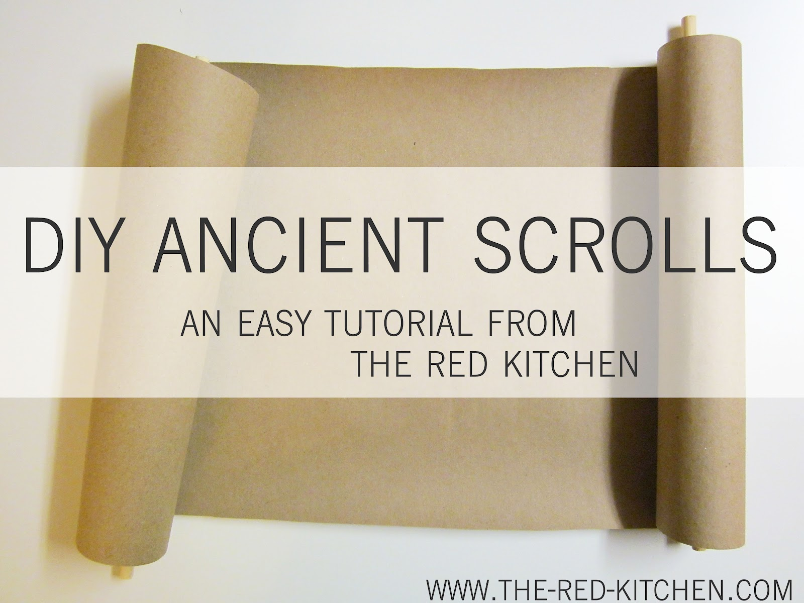 The red kitchen diy ancient scrolls tutorial diy ancient scrolls tutorial solutioingenieria
