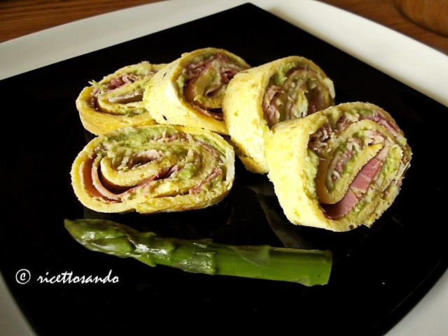 Girelline primavera con asparagi e prosciutto