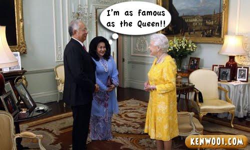najib rosmah queen
