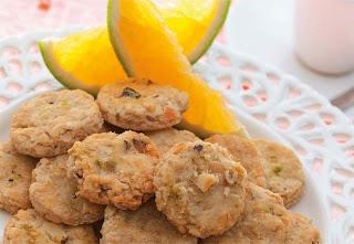 Cookies de laranja e castanha-do-brasil light