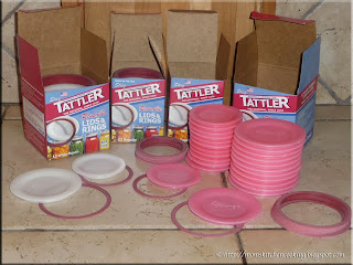 limited edition pink Tattler reusable canning lids in support of Breast Cancer Awareness Month October 2013