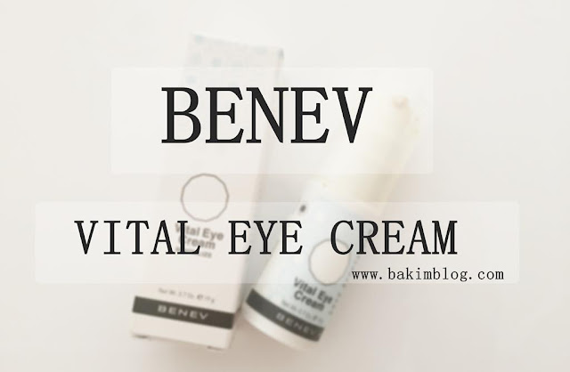benev products benev vital eye cream blog 2015 review