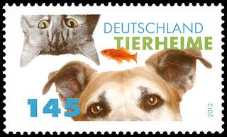 2012年ドイツ連邦共和国 動物保護施設ティアハイムの切手