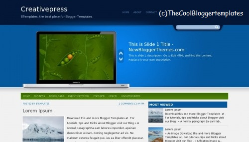 Creativepress Blogger Template
