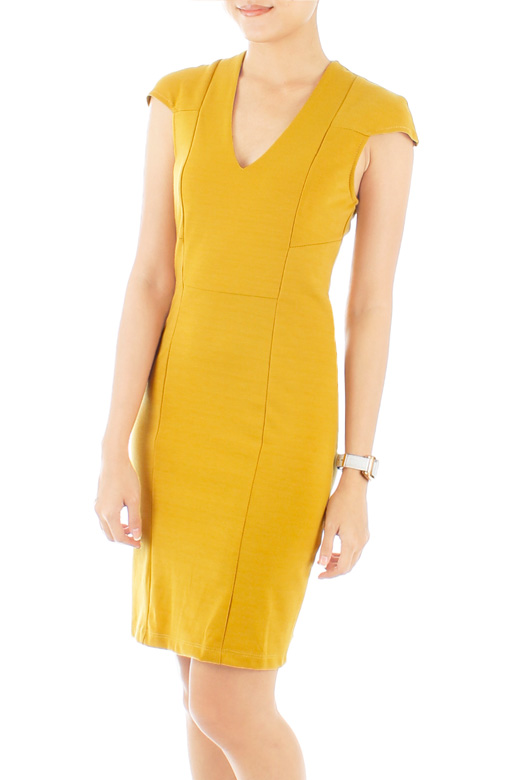Svelte Executive Dress with Seamless Shoulder