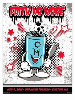 "Faith No More Boston 2015 ""Hood Goodz"" Concert Poster Screen Print by Sket One"