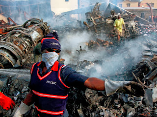 Nigeria plane crash image