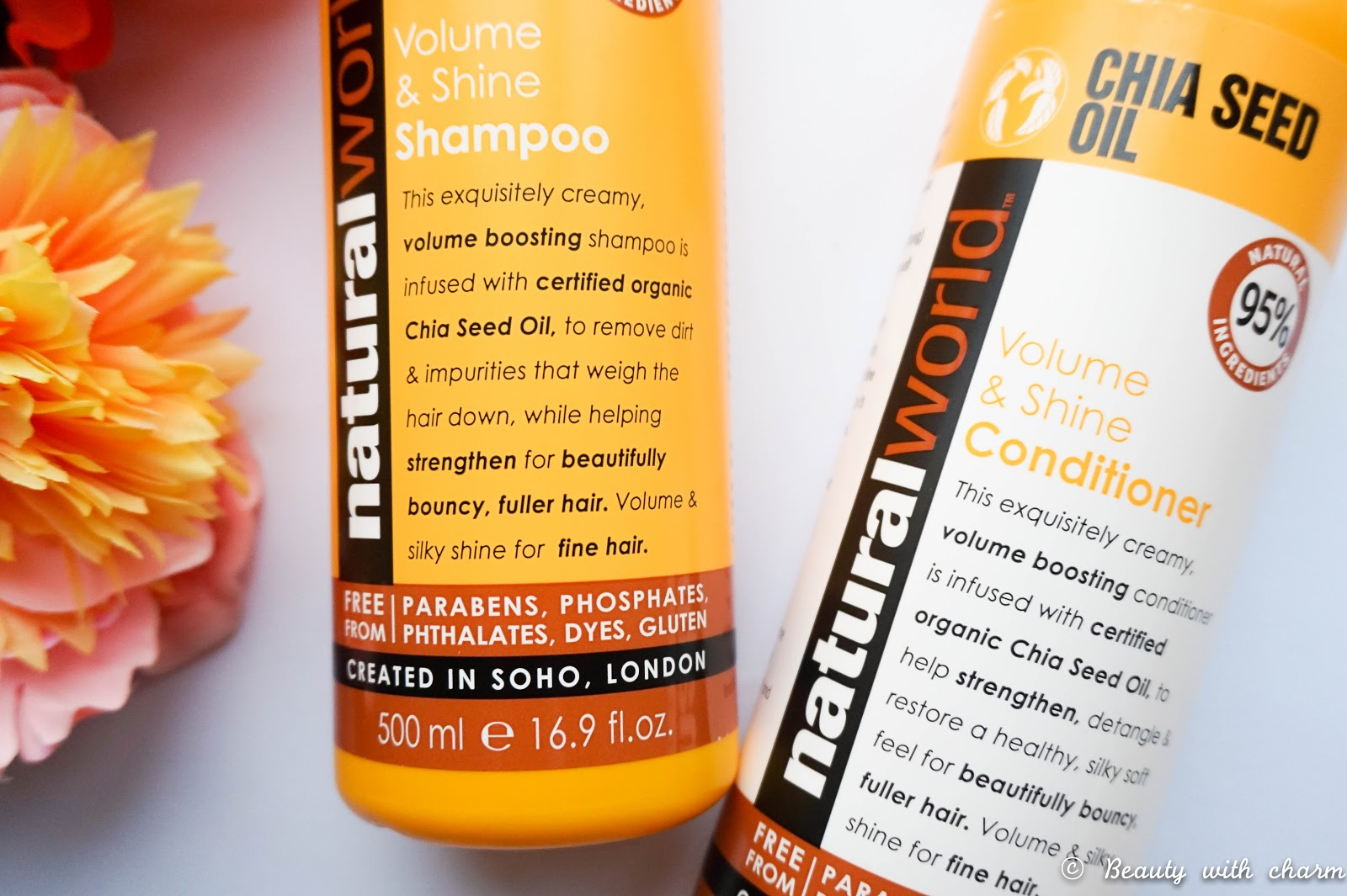 Natural World Chia Seed Oil Haircare Range
