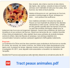 Tracts Peaux Animales