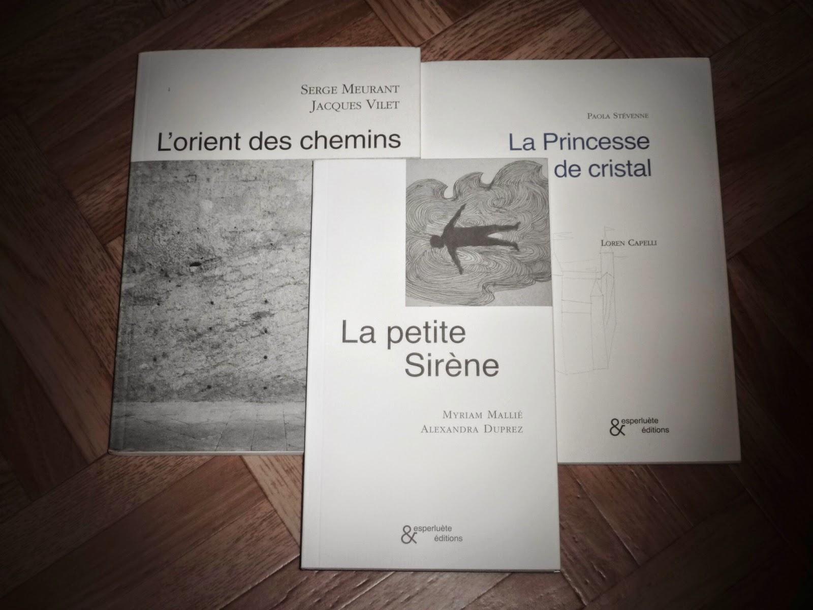 Trois titres des éditions Esperluète