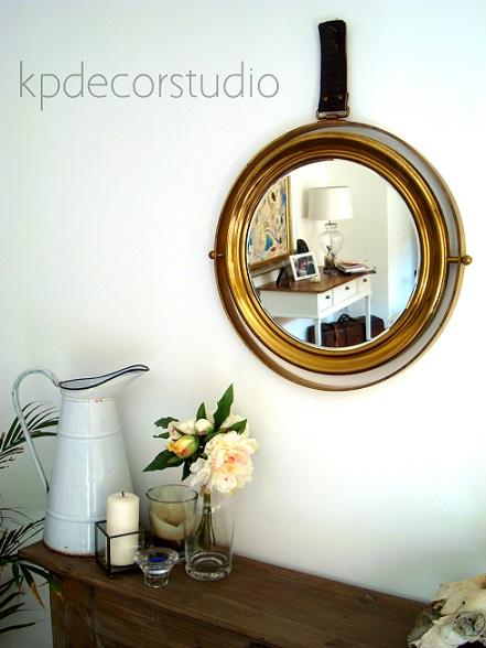 espejo de barco antiguo para decoracion vinatge verano