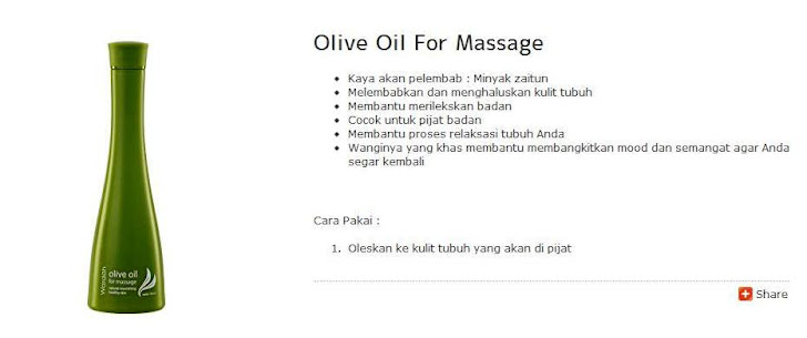Olive Oil for Massage -$12