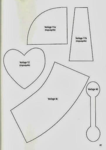 Chaveiro de coração com moldes
