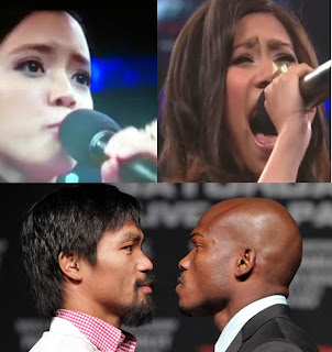 Kirby Asunto and Jessica Sanchez sang national anthems on Pacquiao-Bradley fight