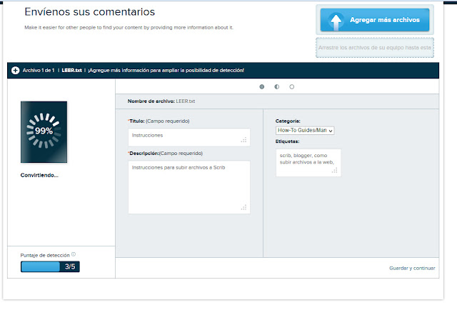 Subir documentos a Scribd