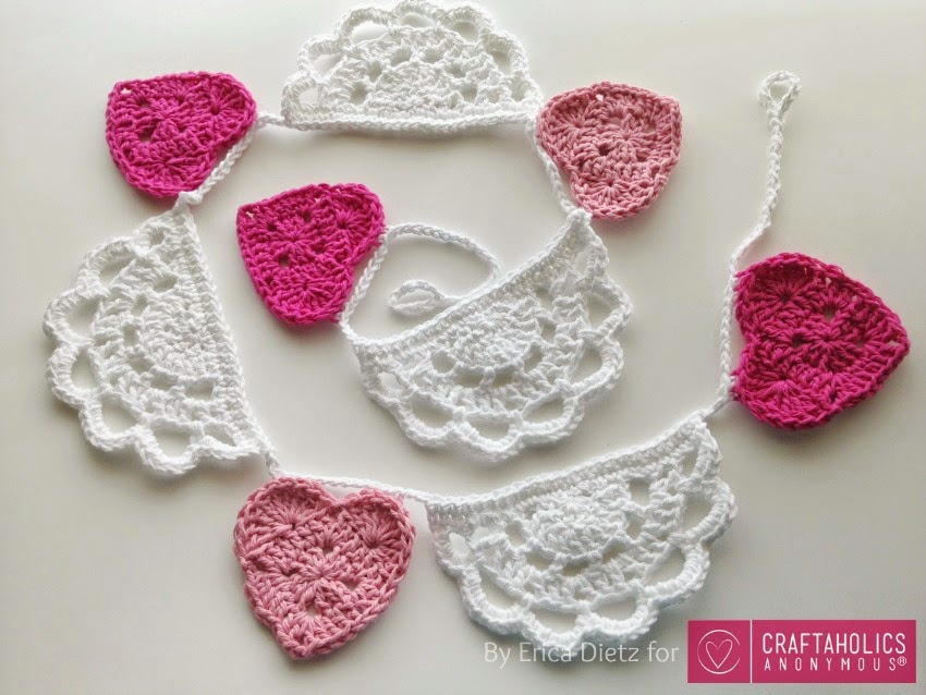 5 Little Monsters Hearts And Doilies Valentine Bunting Tutorial On