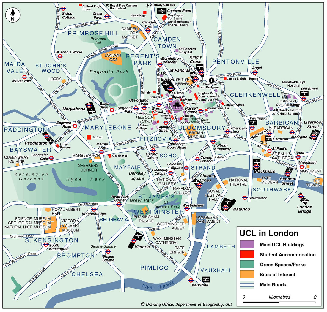 central london city map