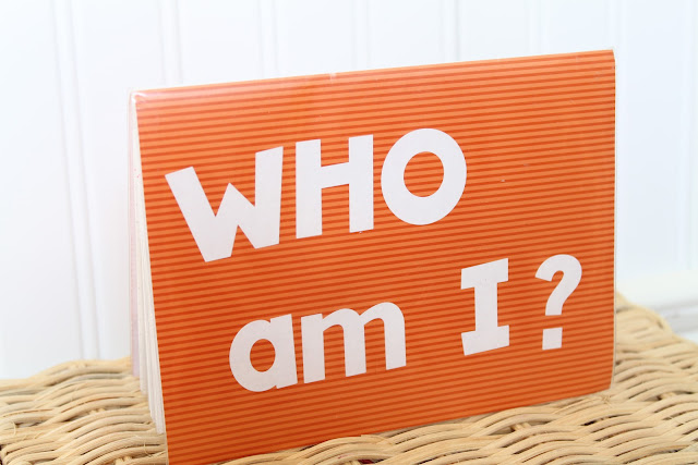 Who Am I?  Family Names and School Names book for kids.  DIY