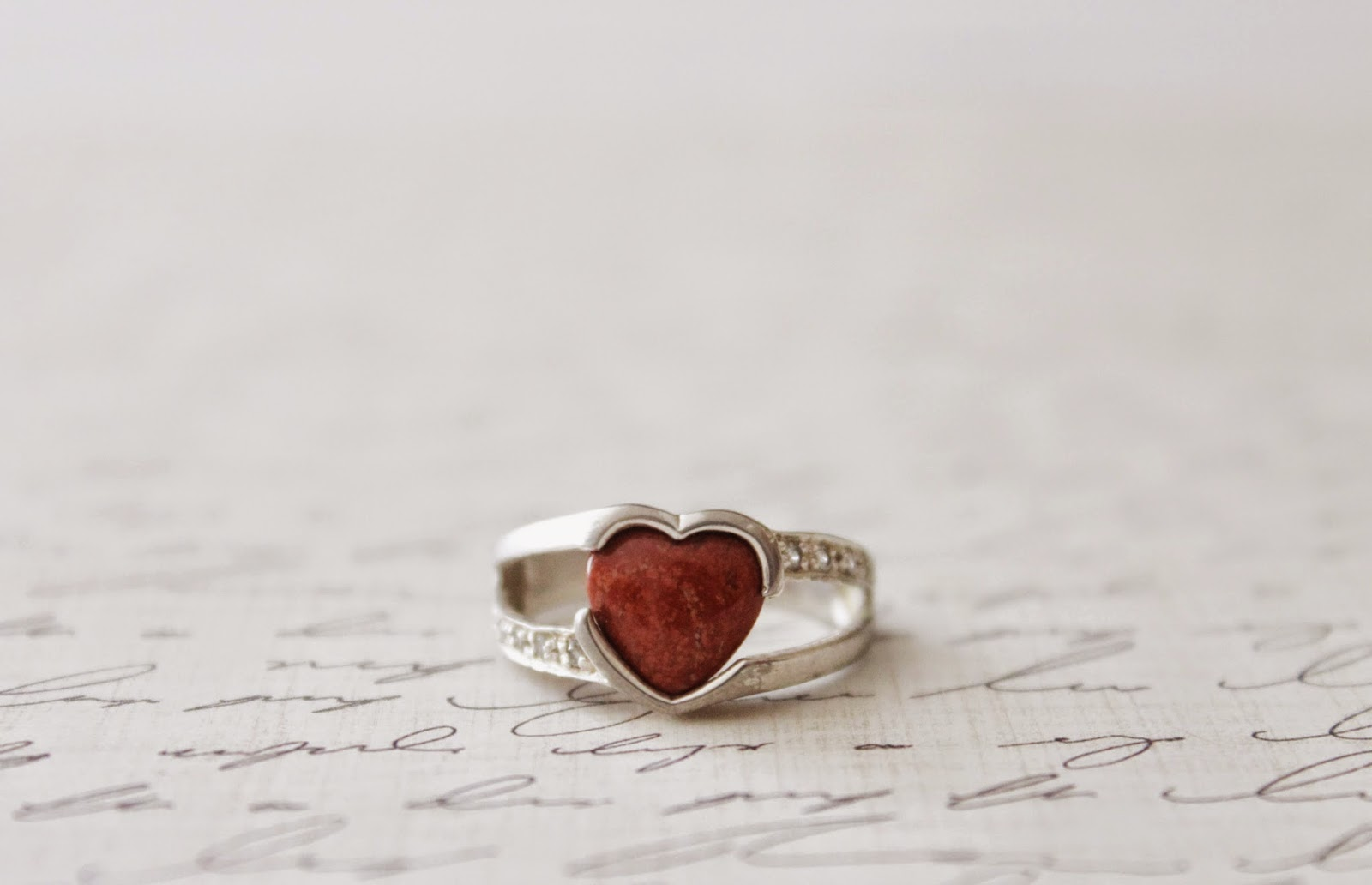 red heart ring carnelian