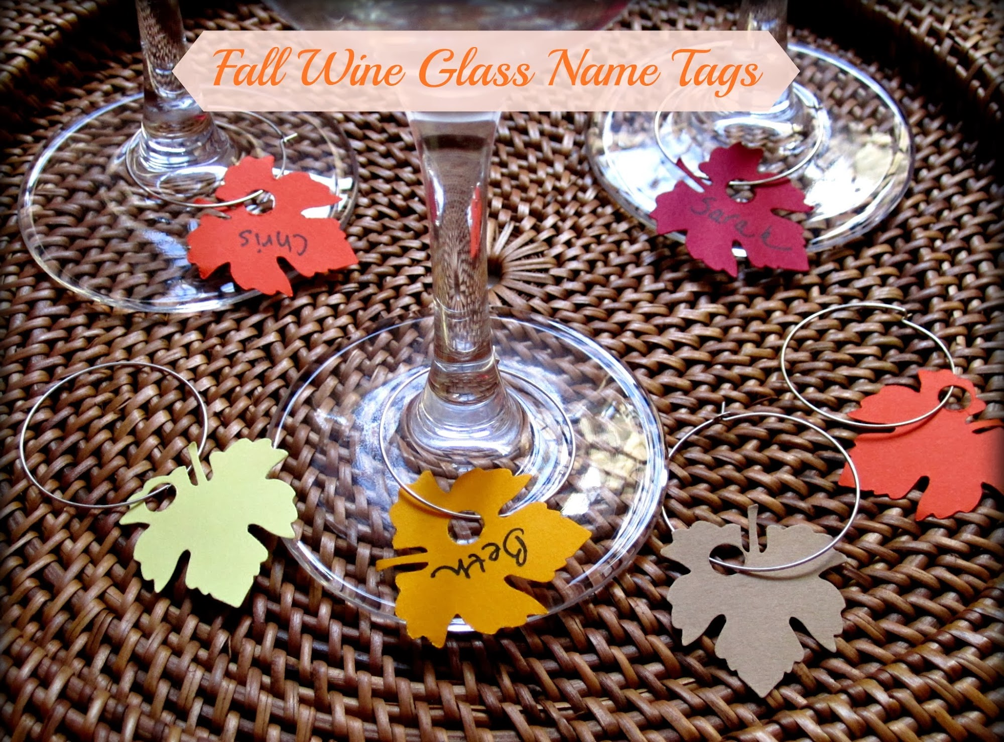 Wine Glass Tags Tutorial
