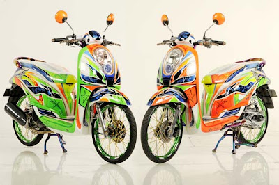 Contoh Modifikasi Motor Matic Scoopy & Mio