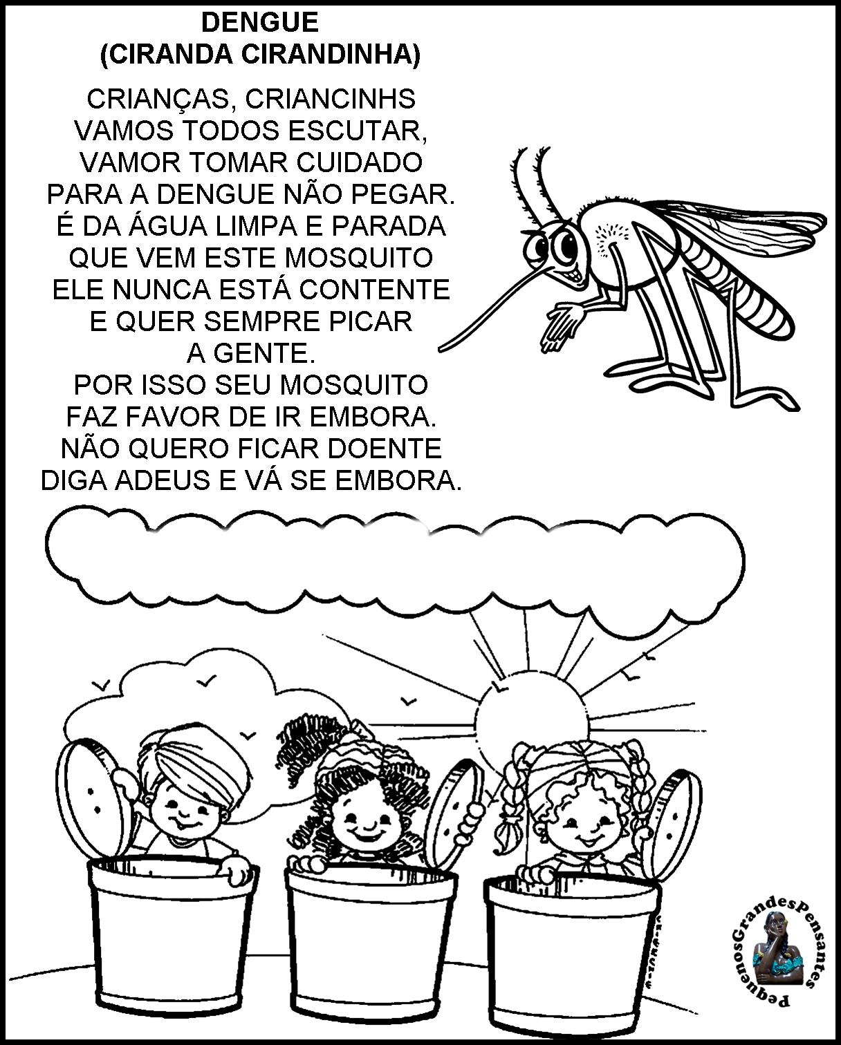 Muitas vezes Pequenos Grandes Pensantes.: Projeto Dengue na Educação Infantil. IS81
