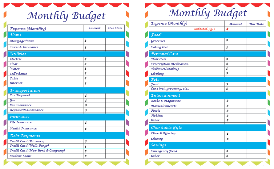 Printables Budget Worksheets For Couples the christiansens as a part of my getting out debt mission for 2014 ive been looking around on pinterest and google various budgeting worksheets