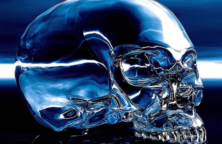 blue wallpaper skull - photo #13