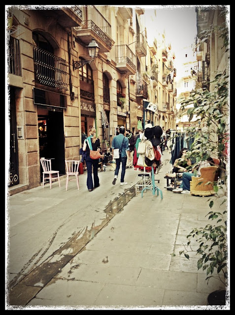 Barcelona Vintage Shopping Street