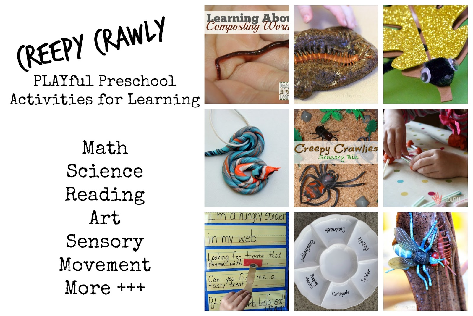 Creepy Crawly Playful Preschool Weekly Lesson Plan