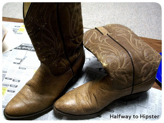 Cowboy Boot Refashion