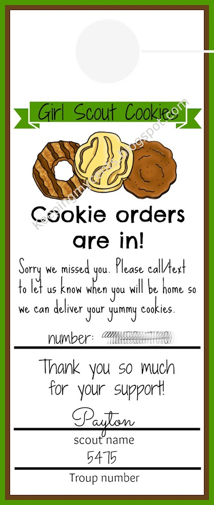 Girl Scout Cookie Order