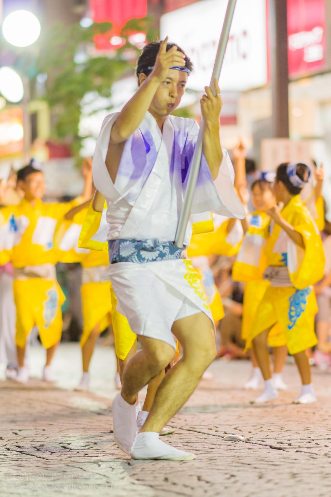 三鷹阿波踊り、菊水会菊水連の高張提灯持ち手