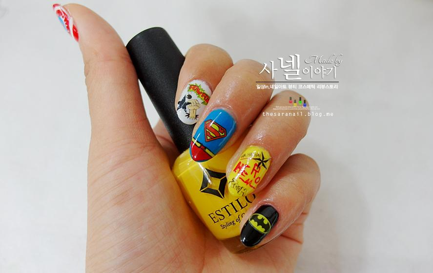 Sara nail superhero nail arts how to do batman and superman superhero nail arts prinsesfo Gallery